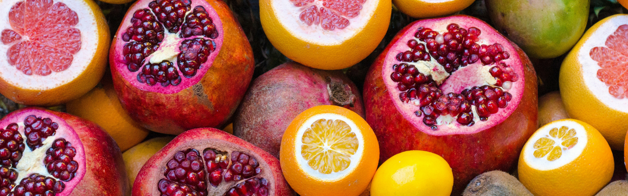 pomegranates and citrus 1280 x 400px