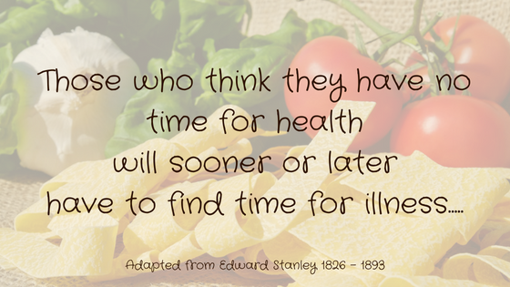 Find Time For Health – Not Illness